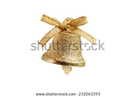 Christmas bell toy - stock photo