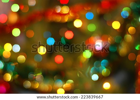 Christmas Bokeh background - stock photo