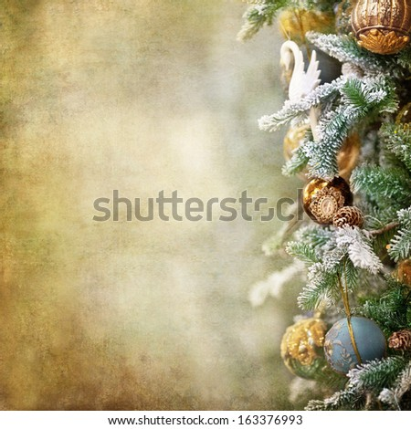 Christmas border design - retro style - stock photo