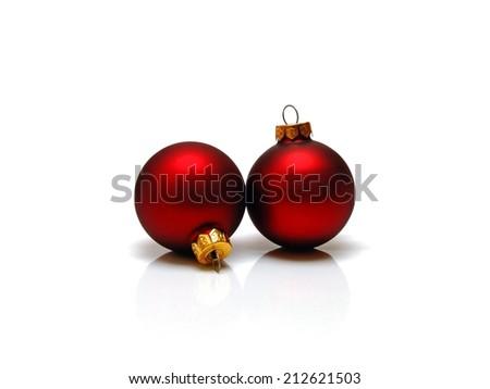christmas bulbs - stock photo