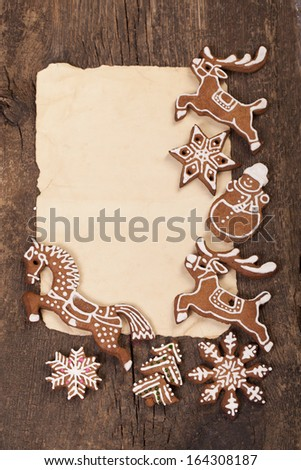 Christmas cake in the shape of a horse - stock photo