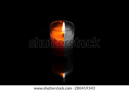 Christmas Candle Aroma background  - stock photo