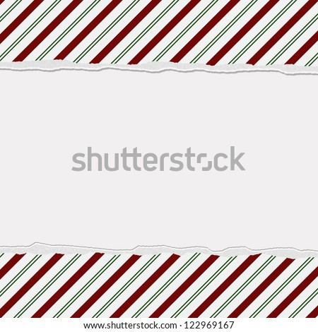 Christmas Candy Striped Background for your message or invitation with copy-space in the middle - stock photo