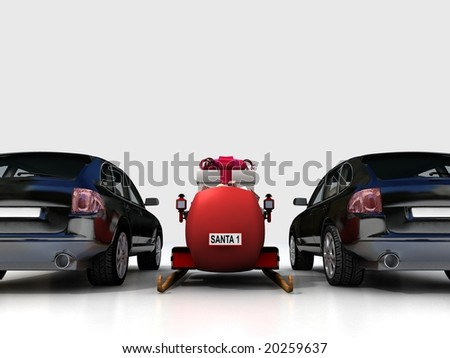Christmas car - stock photo