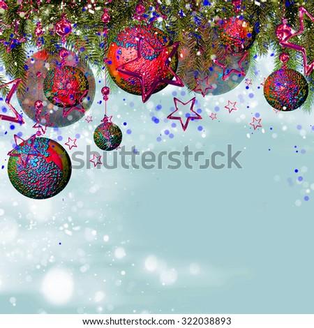 Christmas card background - stock photo
