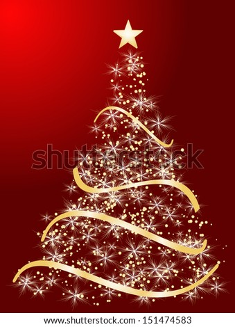 Christmas card decorative abstraction background. raster copy of vector file - stock photo
