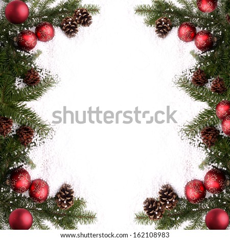 Christmas card for Your sample text - stock photo