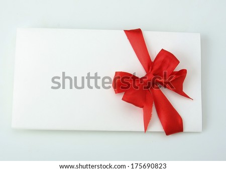 Christmas card isolated on white background - stock photo