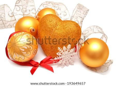 Christmas card isolated on white background - stock photo