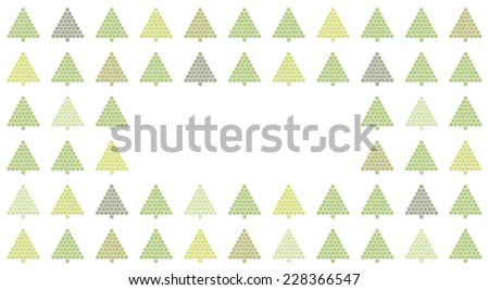 Christmas card with christmas trees - stock photo