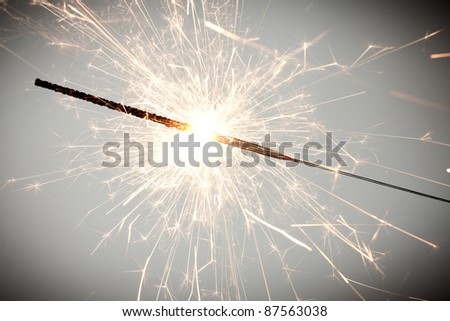 christmas celebration sparklers. See my portfolio for more - stock photo