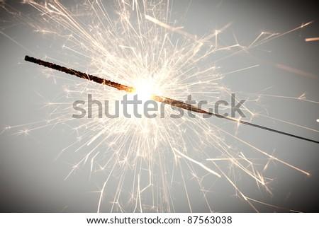 christmas celebration sparklers. See my portfolio for more - stock photo