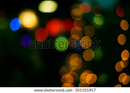 Christmas colorful abstract background in defocus shot closeup - stock photo