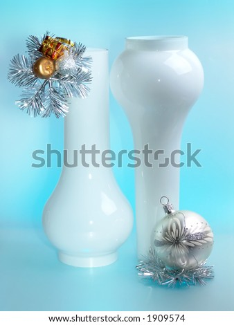 Christmas composition  with toys. - stock photo