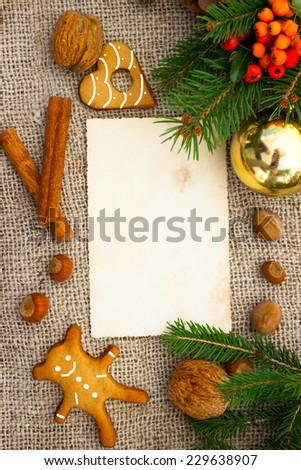 Christmas cookbook for traditional cake  - stock photo