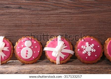 christmas cookie - stock photo