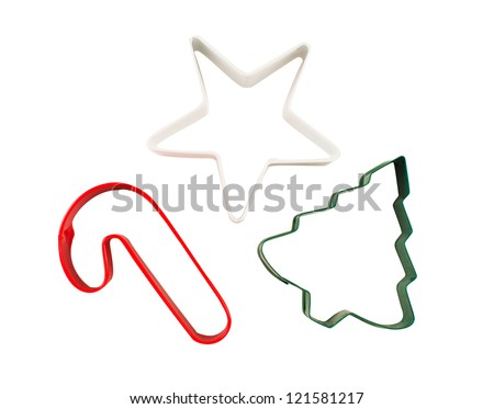Christmas Cookie Cutters - stock photo