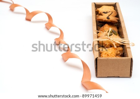 Christmas Cookies in the box - stock photo