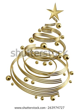 Christmas. 3D. Christmas tree - stock photo