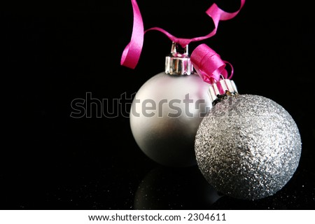 Christmas d?corations on a black background - stock photo