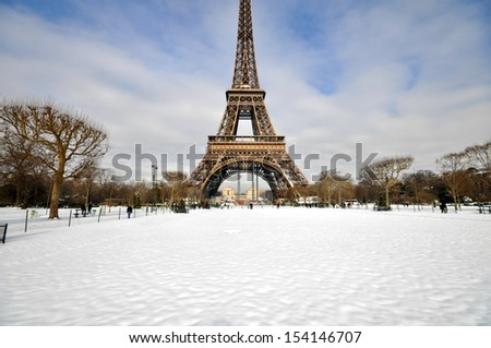 Christmas day in Paris - stock photo