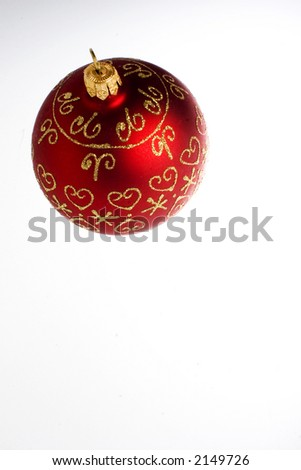 christmas decoration bauble red decorative - stock photo