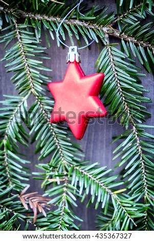 christmas decoration - christmas bauble - closeup - stock photo