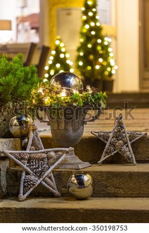 Christmas decoration for the advent season - stock photo