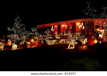 Christmas Decoration House - stock photo