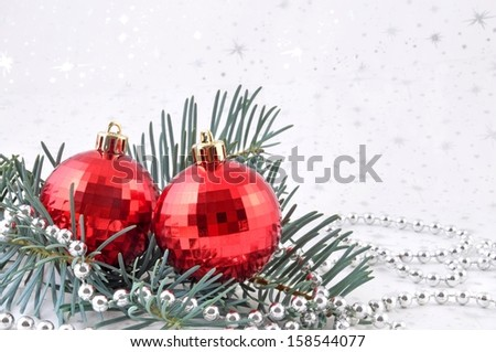 Christmas decoration isolated on a white background  - stock photo