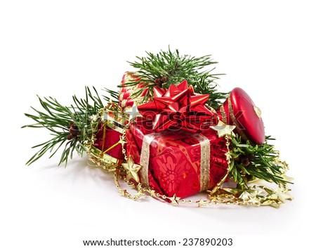 Christmas decoration isolated on a white background  - stock photo