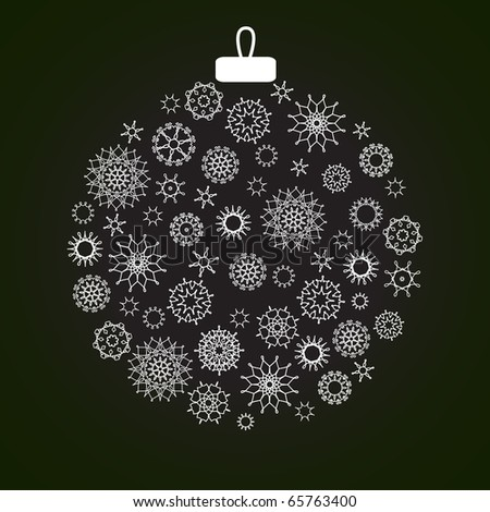 Christmas decoration made from snowflakes - stock photo