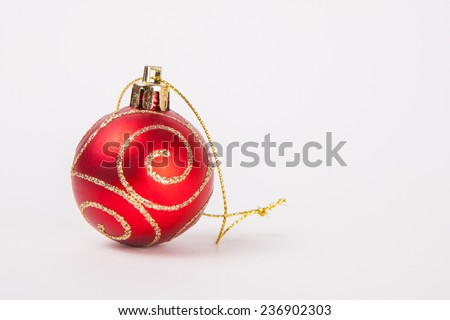 christmas decoration on a white paper background - stock photo