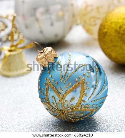 Christmas decoration  on Christmas background - stock photo