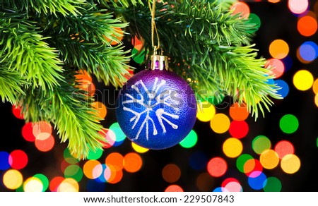 Christmas decoration on the fir tree - stock photo