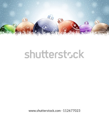 Christmas decoration. Raster version, vector file id: 112056941 - stock photo