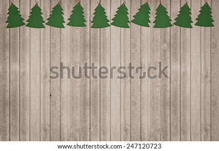 Christmas decoration with a christmas trees - stock photo