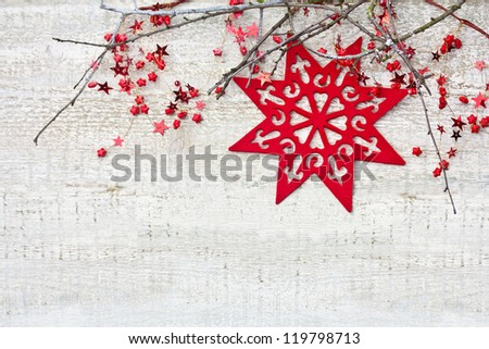 Christmas decoration with branches - stock photo
