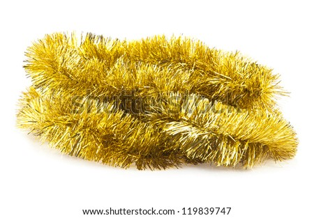 christmas decorations are isolated a white background - stock photo