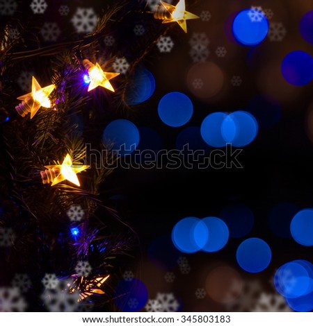 Christmas decorations Christmas lights - stock photo