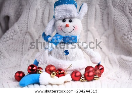 Christmas decorations for Christmas and New Year background - stock photo