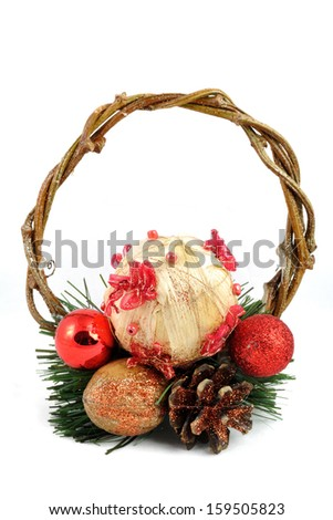 Christmas decorations handmade by young children - stock photo