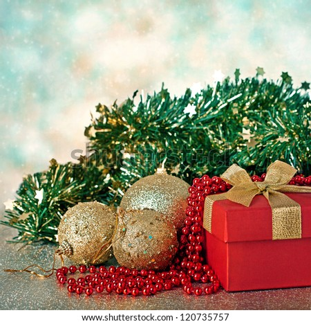 Christmas decorations .Holiday Greeting Card . - stock photo