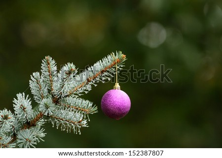 Christmas decorations on a Christmas tree hooked - stock photo