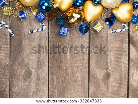 Christmas decorations with copy space - stock photo