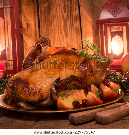Christmas duck - stock photo