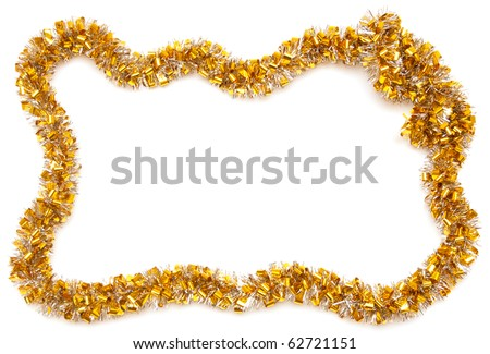 christmas frame isolate on white - stock photo