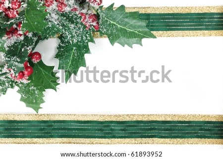 Christmas frame with free space for your images or writing . - stock photo