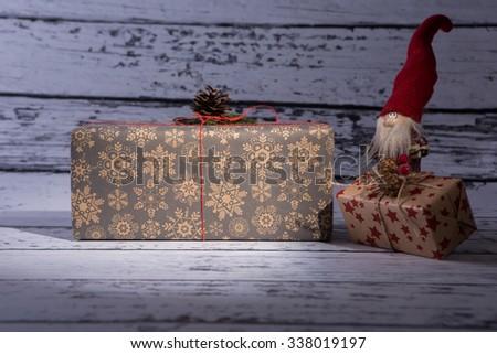 Christmas gift, Christmas presents   - stock photo