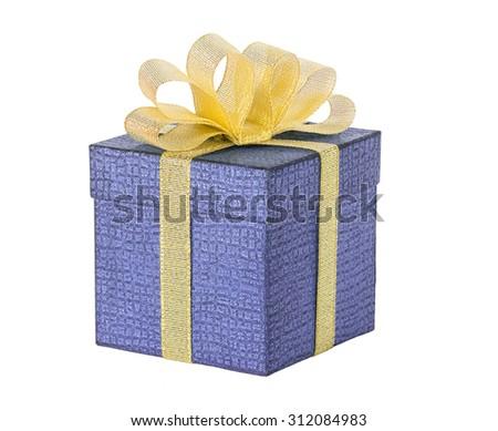 Christmas gift isolated - stock photo
